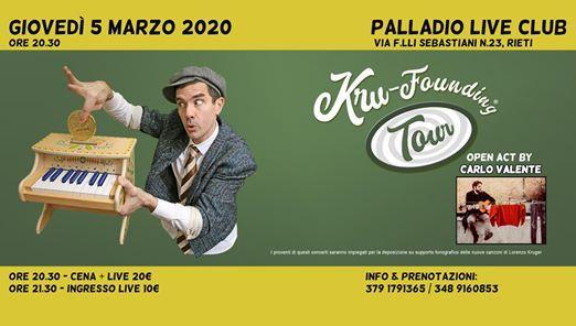 Lorenzo Kruger live a Rieti  Kru-Founding Tour 2020