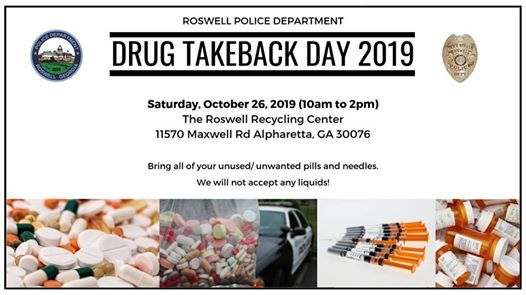 Roswell Recycling Center >> Drug Takeback Day 2019 At Roswell Recycling Center Alpharetta