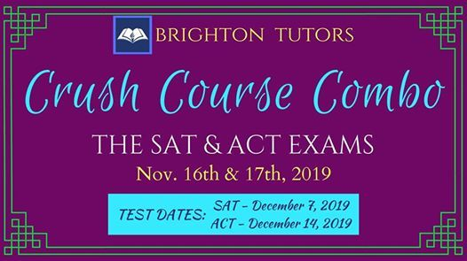 SAT & ACT Crush Course Combo- SAT & ACT Test Prep In One Weekend