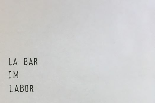 La Bar im Labor