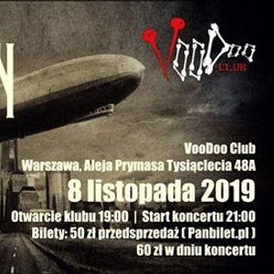 Tribute to Led Zeppelin  08.11.2019  VooDoo Club  Warszawa