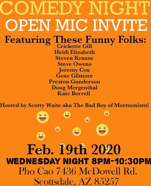 Pho Cao Comedy Show At 7436 E Mcdowell Rd Scottsdale Az 85257 3548 United States Scottsdale