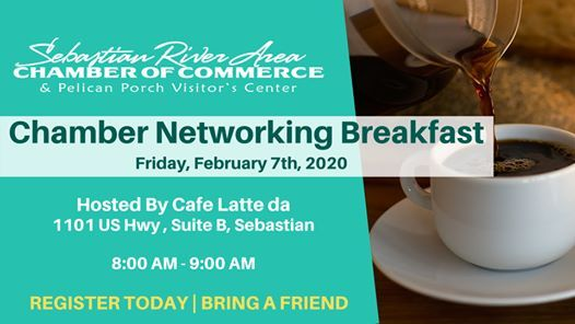 Chamber Networking Breakfast 2 7 20 At Cafe Latte Da Sebastian