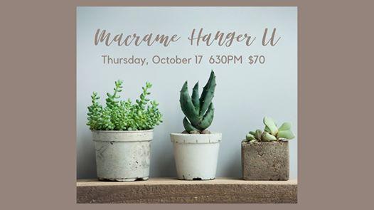 Macrame Hanger II Workshop