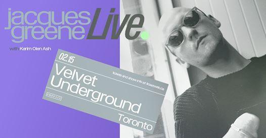 Jacques Greene (Live) at Velvet Underground