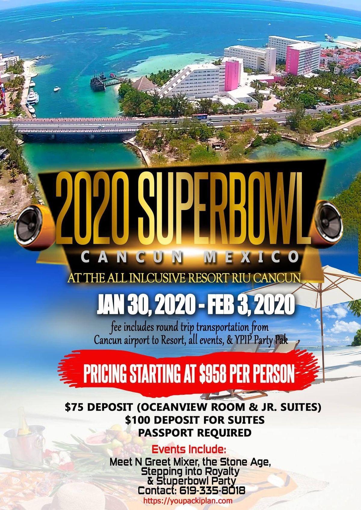 Super Bowl 2020 Events.Super Bowl 2020 Cancun