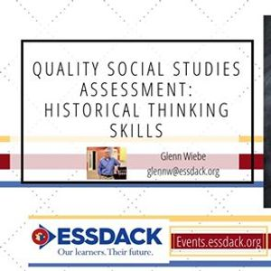 Quality Social Studies Assessment Historical Thinking Skills