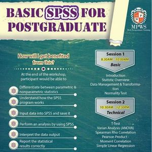 One Day Workshop On Basic SPSS for Postgraduate