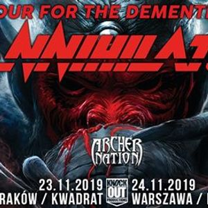 Annihilator  Archer Nation  24 XI  Warszawa