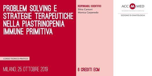 Problem solving e terapie nella Piastrinopenia Immune Primitiva