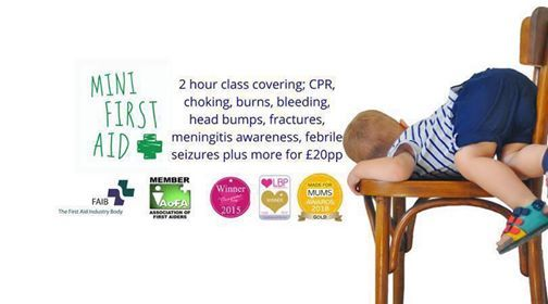 Award Winning 2 Hour Baby & Child First Aid Class Nailsworth