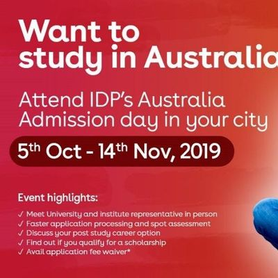 Attend IDPs Australia Admission Day in  Jaipur  - Free Registration