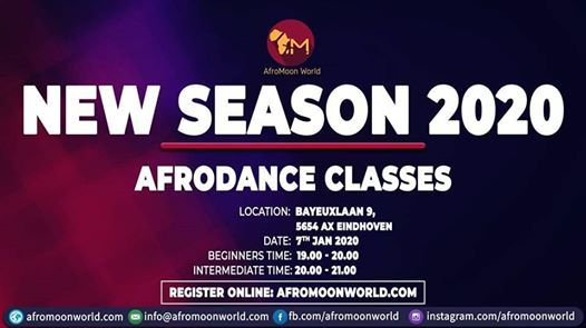 New Season. Free Opendays Afrodance classes in Eindhoven 2020