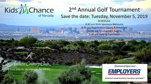 2nd Annual Kids Chance of Nevada Golf Tournament