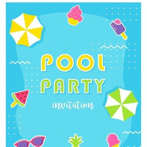 Heart Kids Christmas Pool Party