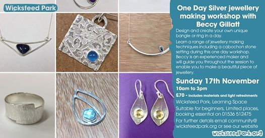 One Day Silver jewellery making workshop with Beccy Gillatt