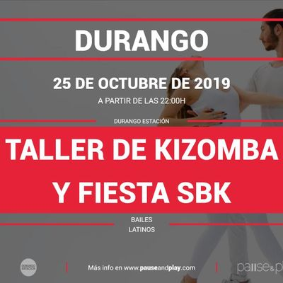 Taller de Kizomba y Fiesta SBK en Pause&ampPlay Durango Estacin
