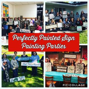 Taylors Perfectly Painted Sign Painting Party