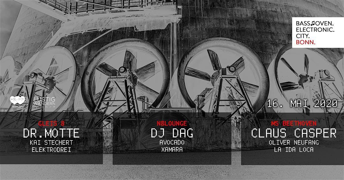 N8Lounge Ticket 1Electronic City Bonn  w. Dr. Motte DJ Dag Claus Casper
