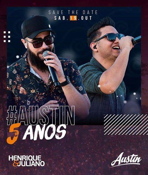 Lista Vip Unissex Henrique & Juliano  Austin