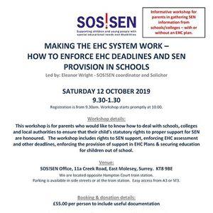 Workshop Making the EHC system work - enforcing EHC deadlines
