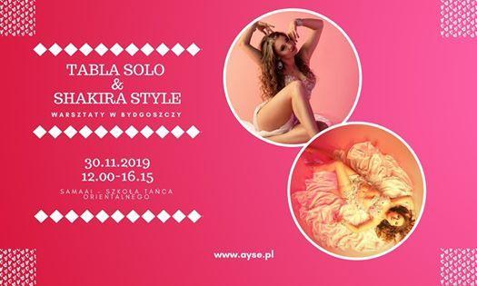 Warsztaty Tabla Solo & Shakira Style z Ayse w Bydgoszczy