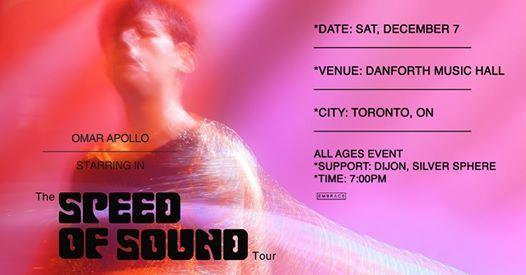 Omar Apollo - The Speed of Sound Tour