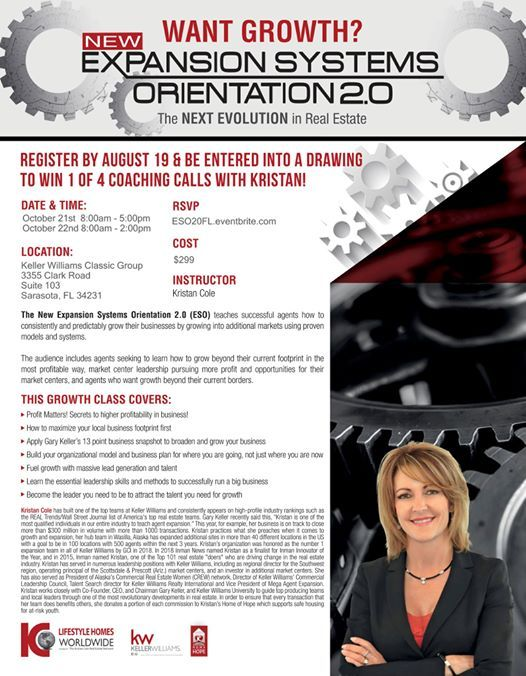 Expansion Systems Orientation 2.0 with Kristan Cole in Sarasota