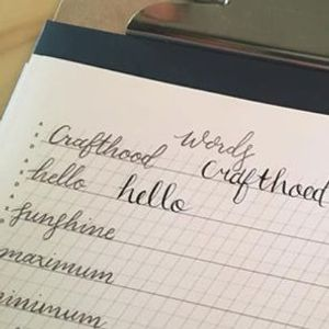 Modern Calligraphy Workshop with The Crafthood