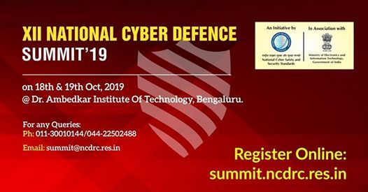 XII National Cyber Defence Summit  2019