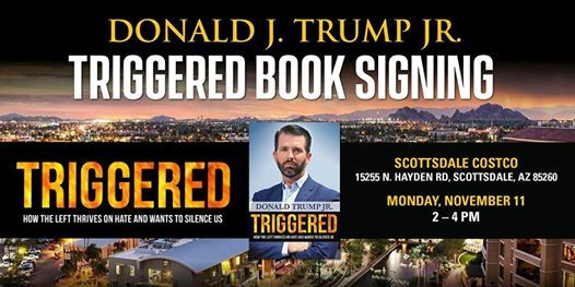 Donald J. Trump Jr. Triggered Book Signing  Scottsdale