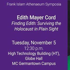 Hear from Holocaust Survivor and Author Edith Mayer Cord