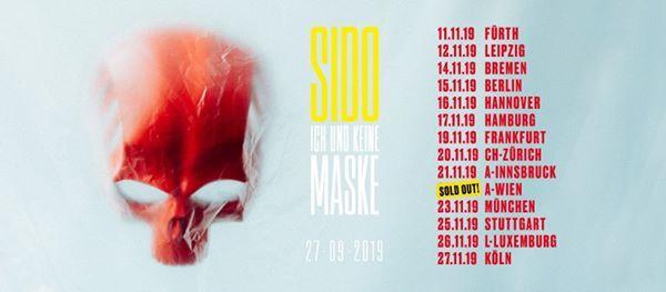 Ausverkauft I SIDO - Tausend Tattoos Tour 2019 I Wien