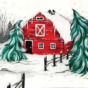 Paint Nite - Red Winter Barn
