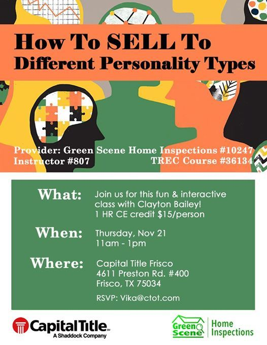 1 Hr Photo >> How To Sell To Different Personality Types 1 Hr Realtor Ce
