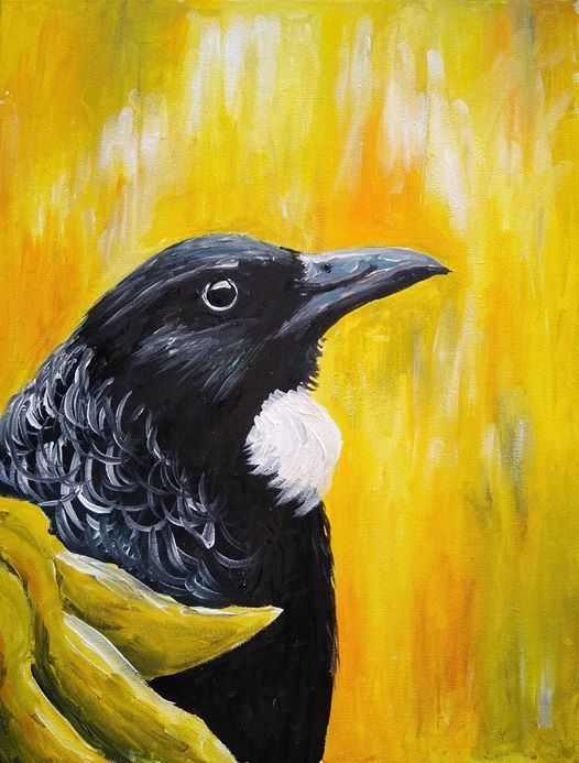 Paint & Wine Night - Kowhai Tui