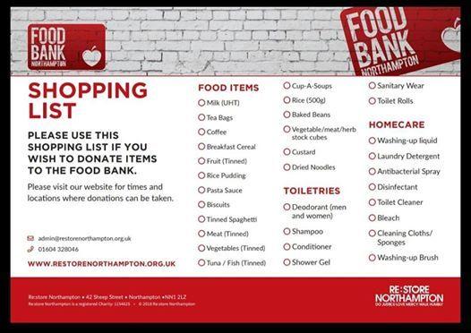Sixfields Upton parkrun Food Bank Collection