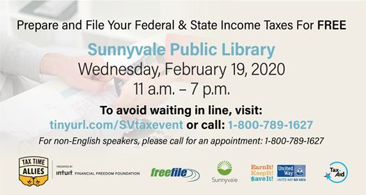 Free Tax Assistance Event Sunnyvale