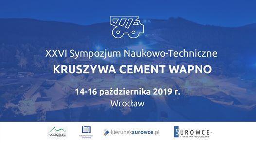XXVI Sympozjum Kruszywa Cement Wapno