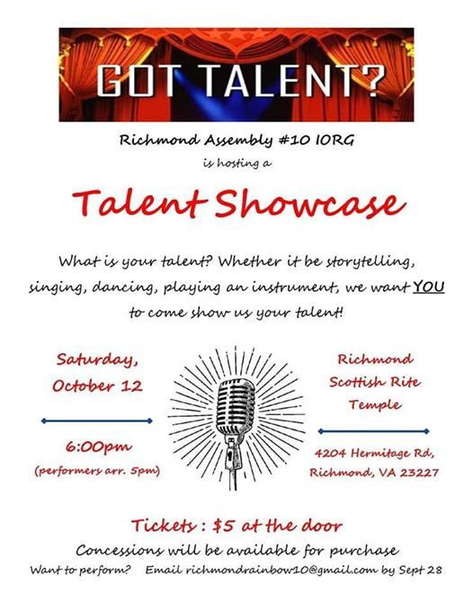 Talent Showcase hosted by Richmond Rainbow
