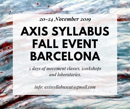 Axis Syllabus Fall event Barcelona