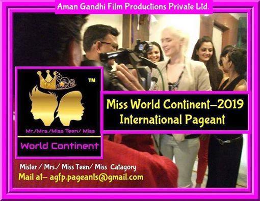 Mr.Mrs. Miss Teen  Miss World Continent-2019-20