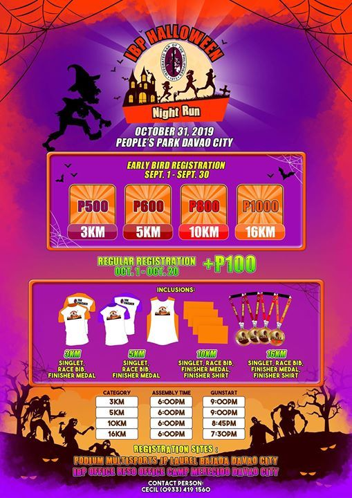 Ibp Halloween Night Run At People S Park Davao