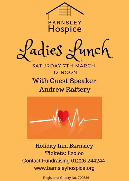 Ladies Lunch with guest speaker Andrew Raftery