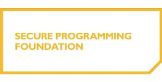 Secure Programming Foundation 2 Days Training in Irvine CA