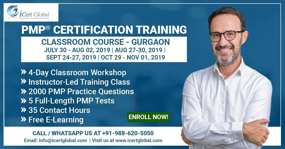 PMP Certification Training Course in Gurgaon IND  4-Day PMP Boot Camp