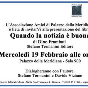 """Presentazione libro di Dino Frambati &quotQuando la notizia  buona"""""""
