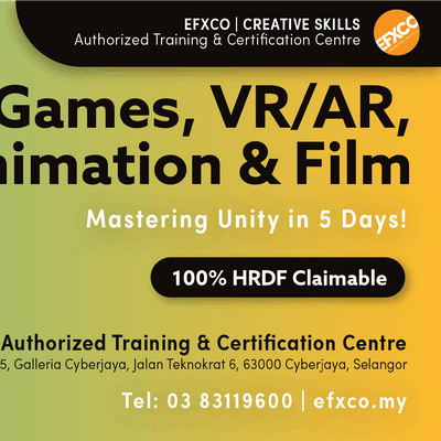 AUTHORISED TRAINING Create Games VRAR Animation & Film with Unity in 5 days