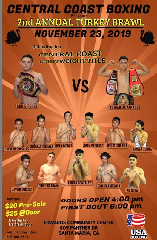 Central Coast Boxing 2nd annual Turkey Brawl
