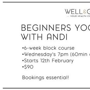 6-week Beginners Yoga Course